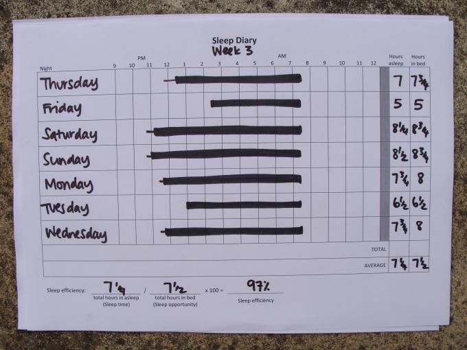 Sleep Diary: Week 3